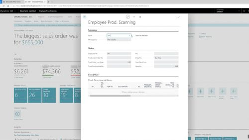 Employee Production Scanning Example