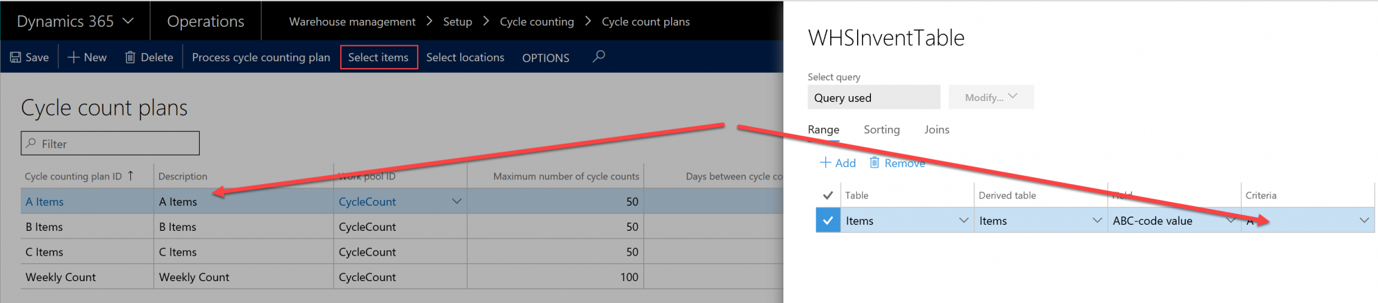 D365 Cycle Count Plans Screenshot 2