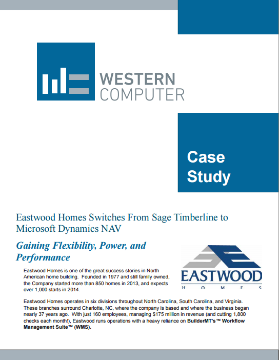 Eastwood Homes Case Study