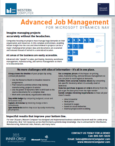 Advanced Job Management for Microsoft Dynamics NAV