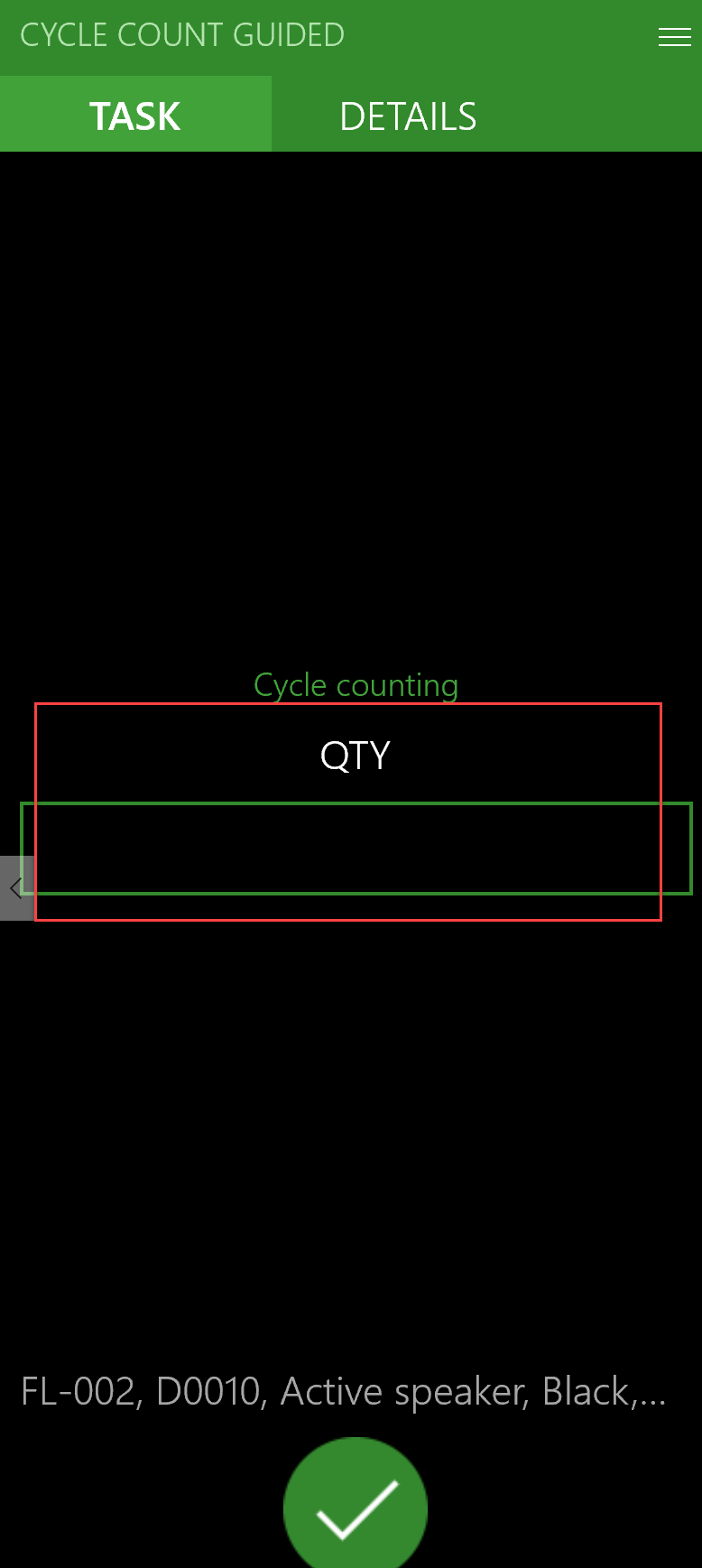D365 Cycle Counting Guided Task Screenshot