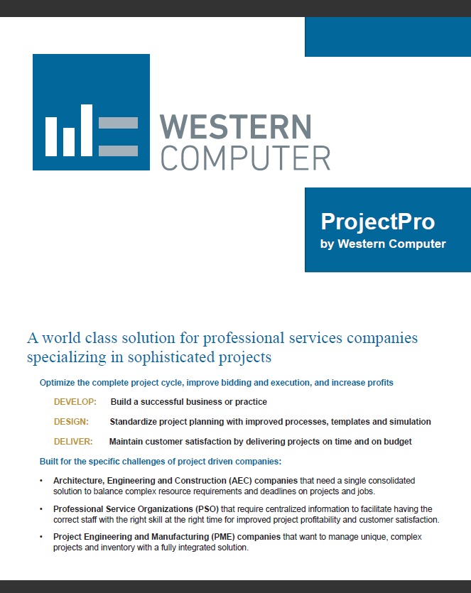 ProjectPro Brochure 2014